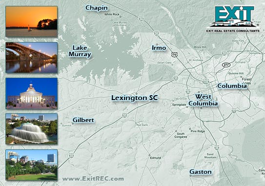 Lexington SC IDX Search Map of Homes for Sale